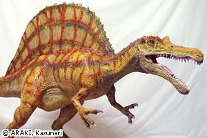スピノサウルス模型の写真